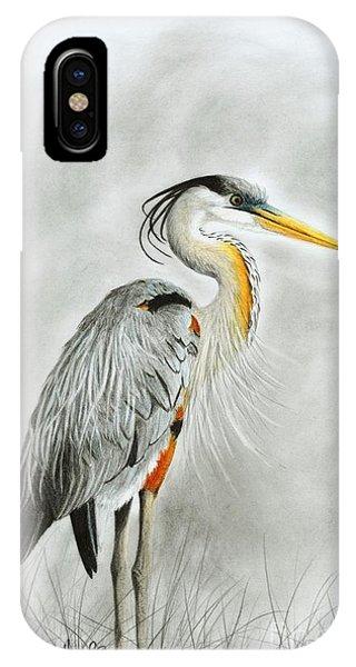 Blue Heron 3 IPhone Case