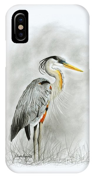 Blue Heron 3 IPhone Case