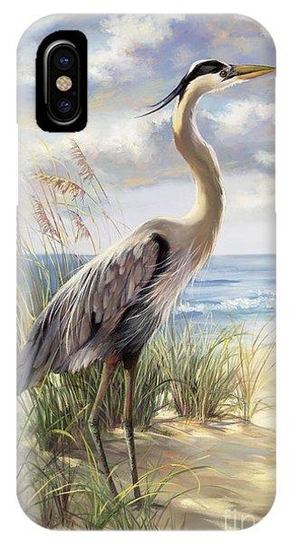 Seashore iPhone Case - Blue Heron Deux by Laurie Snow Hein