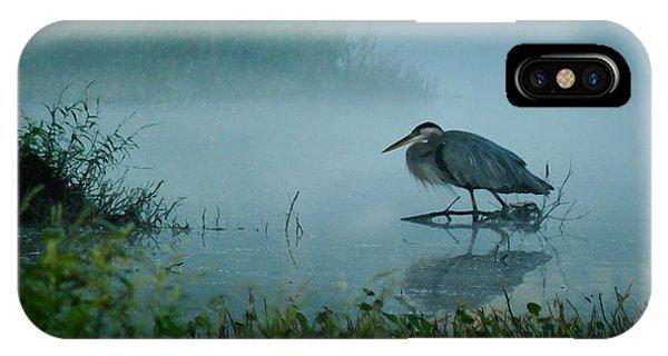 Blue Heron Morning IPhone Case
