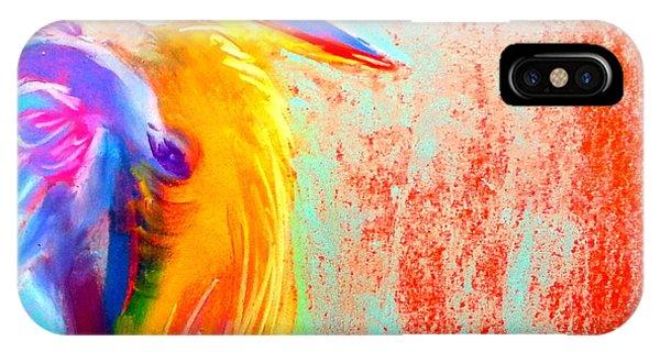 Funky Blue Heron Bird IPhone Case