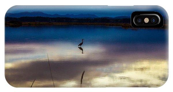 Blue Heron Sun Set IPhone Case