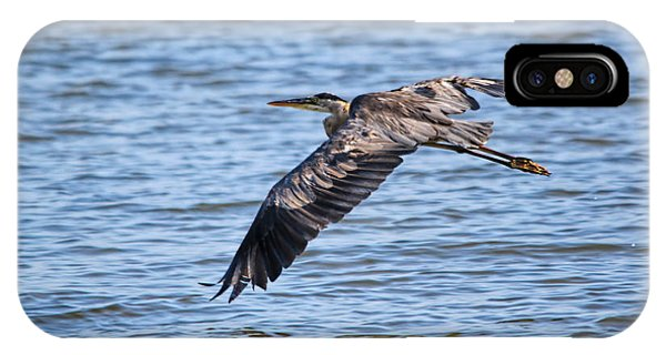 Blue Heron Water Flight IPhone Case