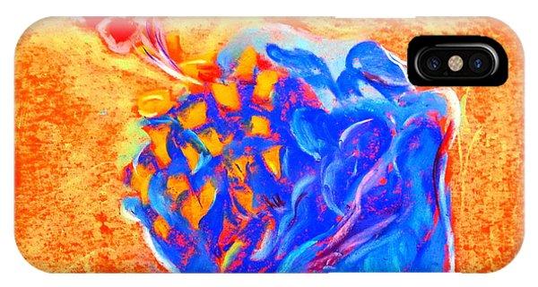 Blue Hibiscus IPhone Case