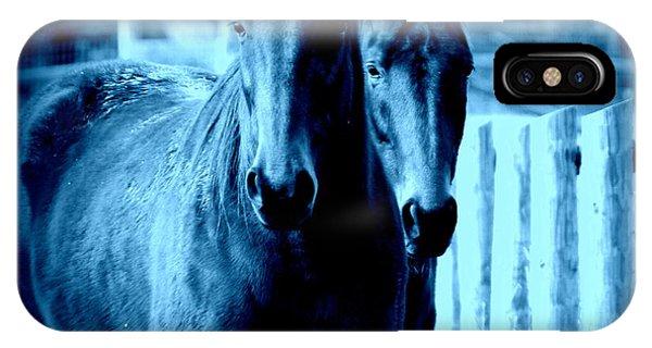 Blue Horses IPhone Case