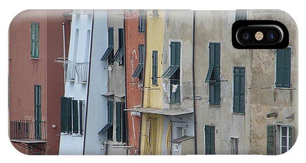 Blue House Portovenere Italy IPhone Case