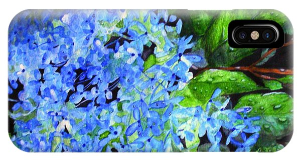 Blue Hydrangea After The Rain IPhone Case