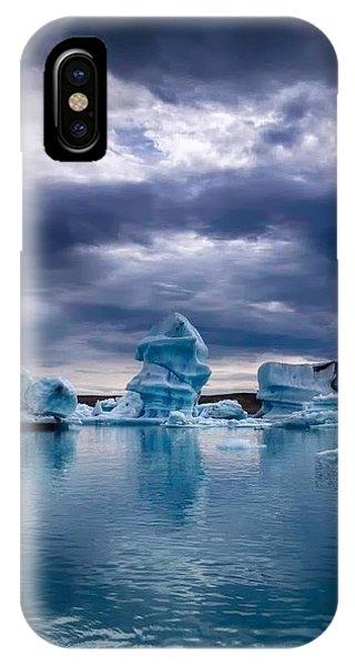 Blue Ice 2 IPhone Case