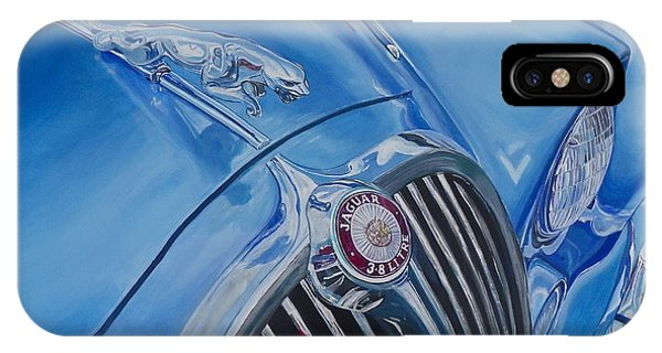 Vintage Blue Jag IPhone Case