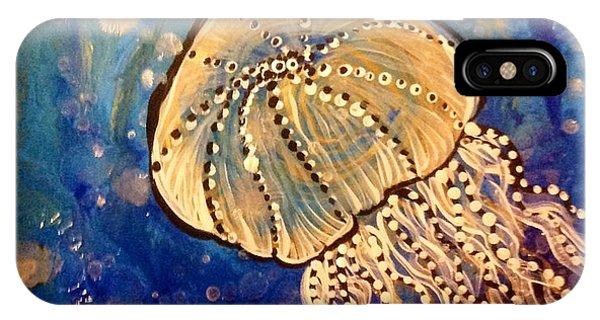 Blue Jellyfish Phone Case by Michaela Kraemer