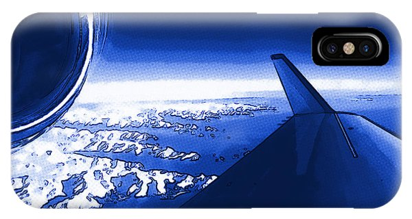 Blue Jet Pop Art Plane IPhone Case