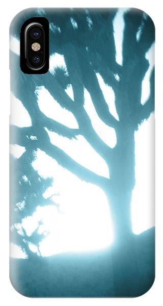 Blue Joshua Trees In Pinhole IPhone Case