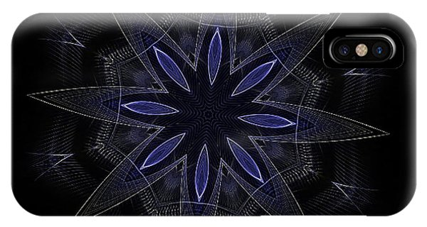 Blue Lace Fractal Mandala IPhone Case