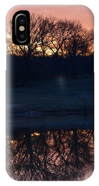 Blue Lake Sunset Xi IPhone Case