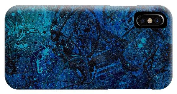 iPhone Case - Blue Lava Flow by Julie Acquaviva Hayes