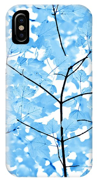 Plants iPhone Case - Blue Leaves Melody by Jennie Marie Schell