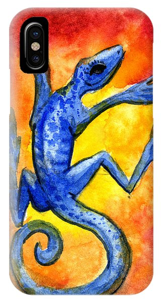 Blue Lizard IPhone Case