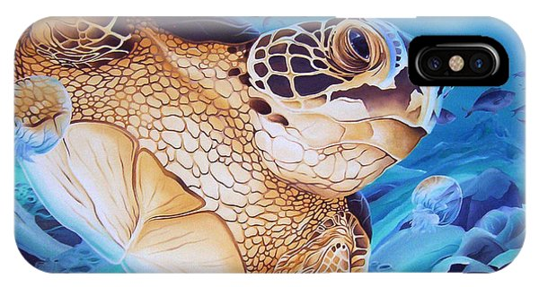 Blue Loggerhead IPhone Case