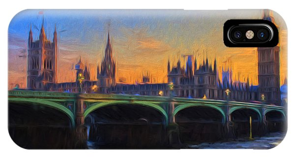 Blue London IPhone Case