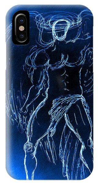 Blue Male Angel IPhone Case