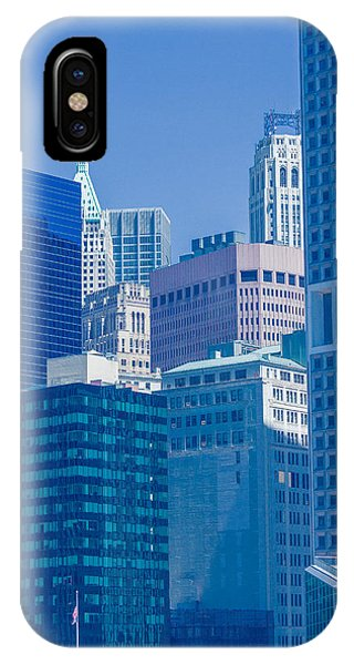 Blue Manhattan IPhone Case