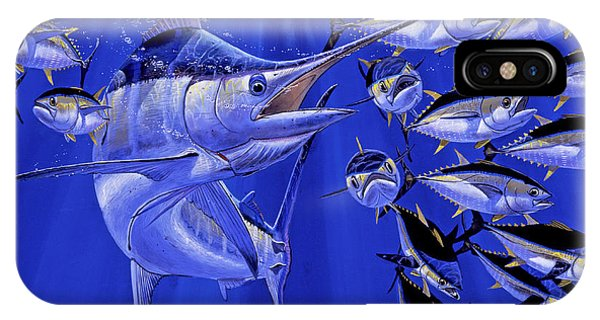 Skipjack iPhone Case - Blue Marlin Round Up Off0031 by Carey Chen