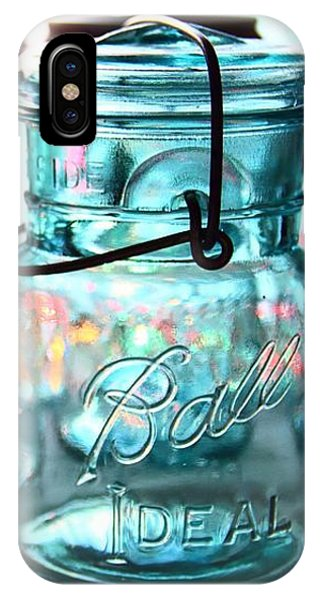 Blue Mason Jars IPhone Case