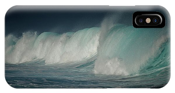 Explosion iPhone X Case - Blue by Mathilde Guillemot