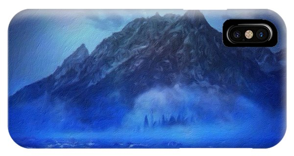 IPhone Case featuring the digital art Blue Mist Rising by Mark Taylor