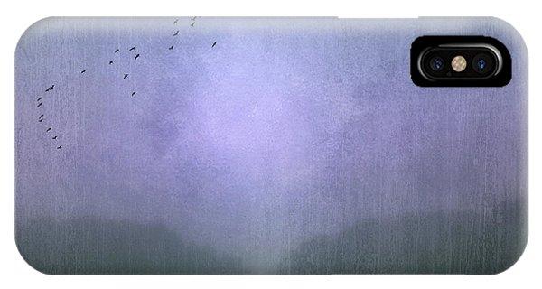 Departure iPhone Case - Blue Monday by Jacqueline Van Bijnen