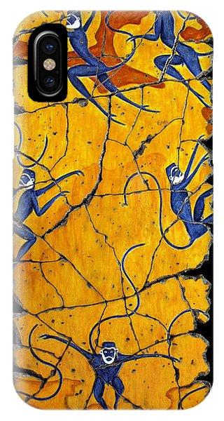 Blue Monkeys No. 41 IPhone Case