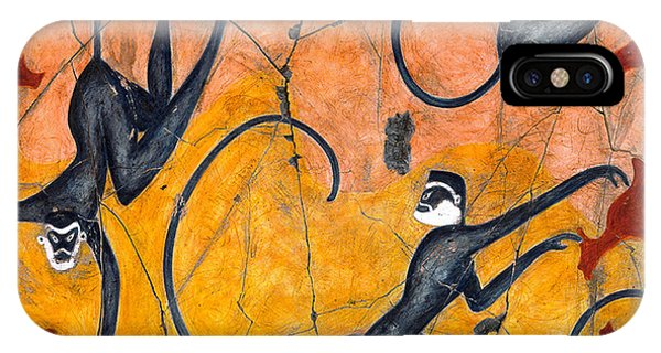 Bogdanoff iPhone Case - Blue Monkeys No. 9 - Study No. 4 by Steve Bogdanoff