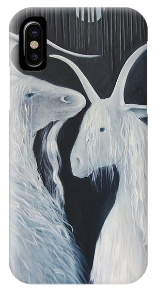 Blue Moon Goats IPhone Case