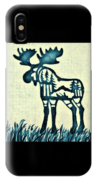 Blue Moose IPhone Case