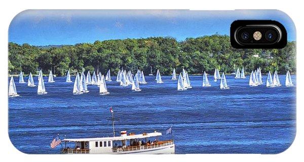 Blue Morning Cruise - Lake Geneva Wisconsin IPhone Case