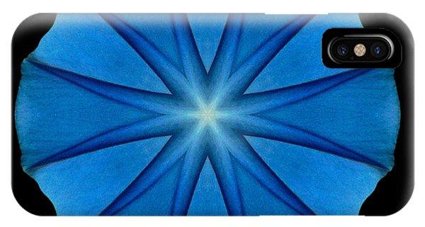 Blue Morning Glory Flower Mandala IPhone Case