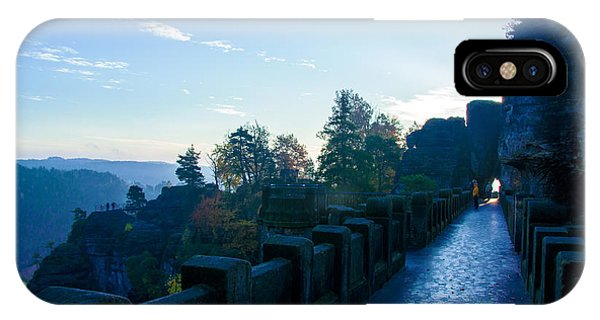 Blue Morning On The Bastei IPhone Case