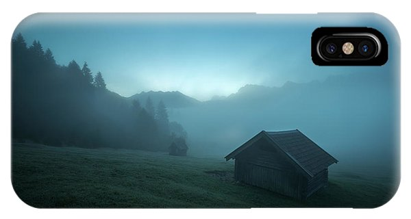 Mist iPhone Case - Blue Morning by Petra M. Schmitz