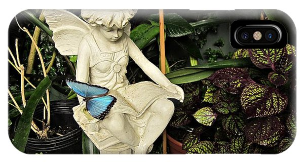 Blue Morpho On Statue IPhone Case