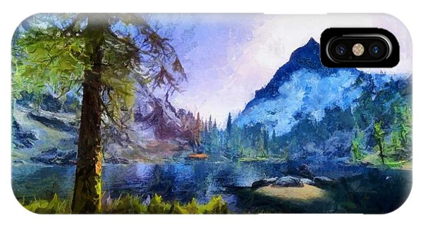Blue Mountain Of Skyrim IPhone Case