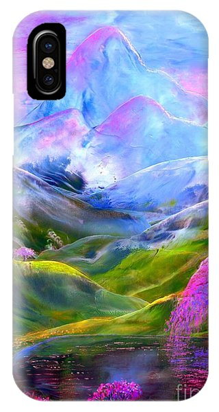 Green Fields iPhone Case - Blue Mountain Pool by Jane Small