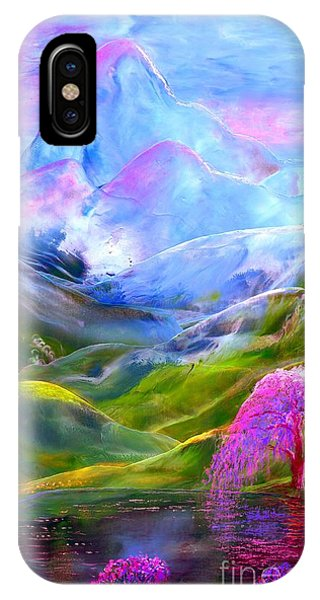 Orchid iPhone X Case - Blue Mountain Pool by Jane Small