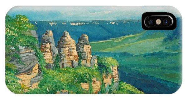 Blue Mountains Australia IPhone Case