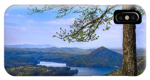 Chilhowee iPhone Case - Blue Mountains by Debra and Dave Vanderlaan