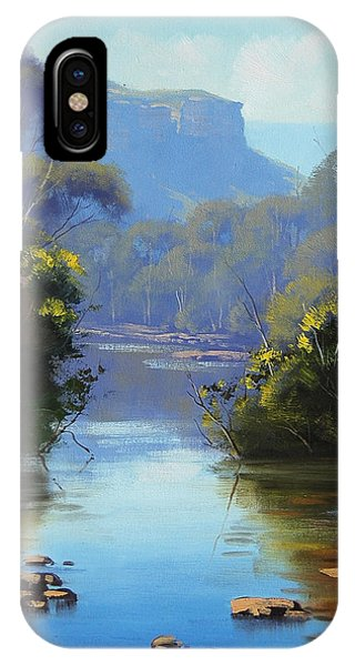 Blue Mountains River IPhone Case