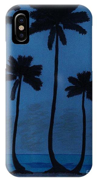 Blue - Night - Beach IPhone Case