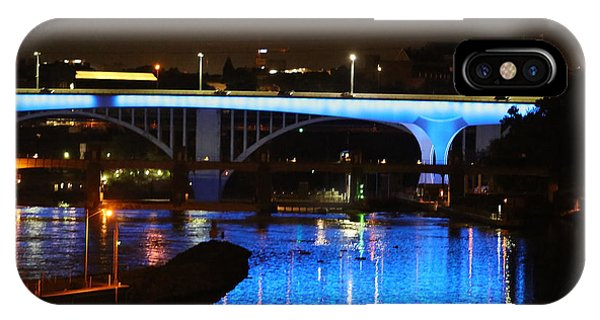 Blue Night In Minneapolis IPhone Case
