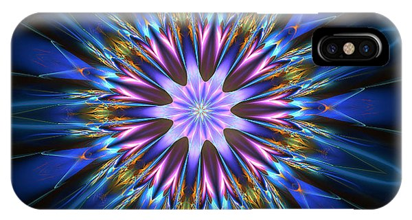 Blue Oomph Fractal Mandala IPhone Case