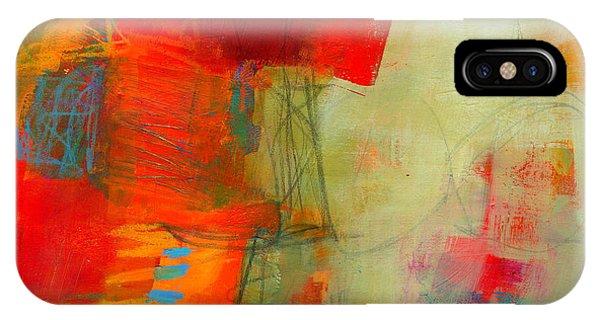 Graphite iPhone Case - Blue Orange 1 by Jane Davies