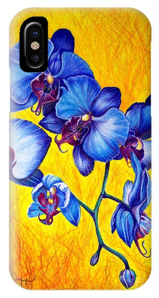 Blue Orchids 1 IPhone Case